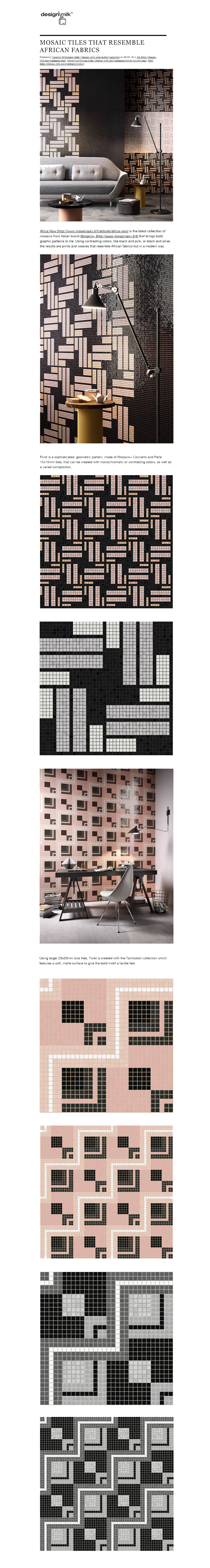 Terzo Piano || Design Milk post about #Mosaicopiu