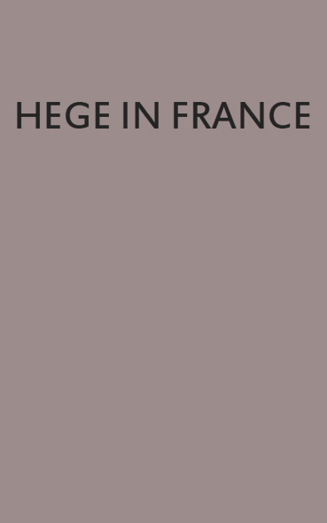 hege in france- cover - terzopiano
