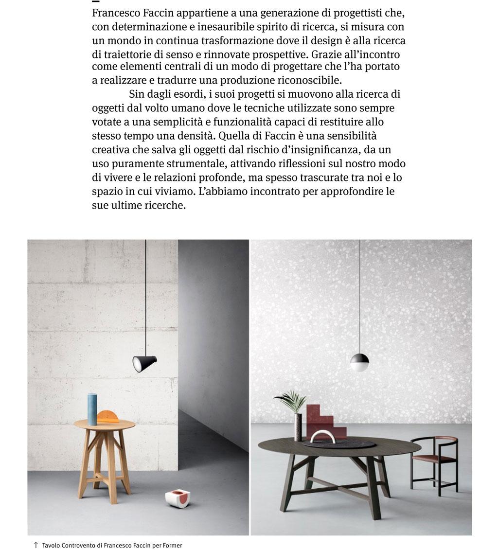 #FrancescoFaccin #designer #Controvento table #FormerBusnelli || Images by #TERZOPIANO