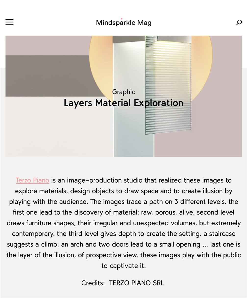 Layers #TERZOPIANO project featured on #MindsparkleMag