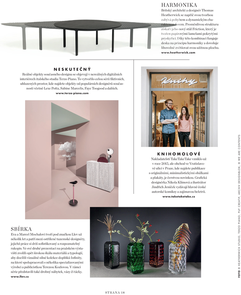 Elle Decoration Czech Republic || December 2017 || Terzo Piano