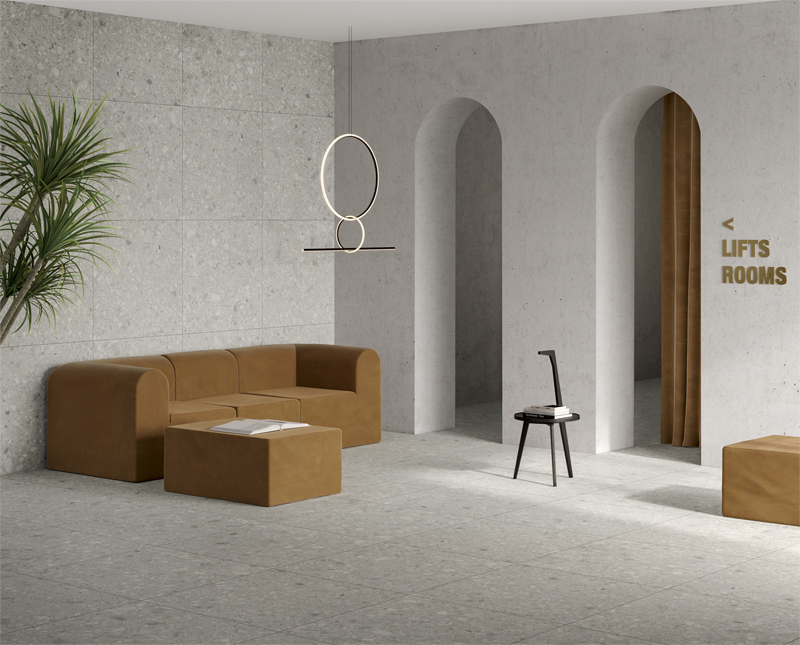 #TERZOPIANO image for #VitrA ceramic tiles | #Cersaie2018 | Inspired by #NaturalStone