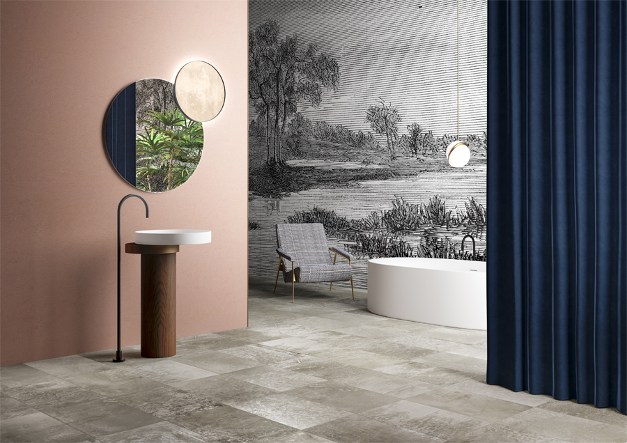 #TERZOPIANO image for #GranitiFiandre | #Cersaie2018 | #Magneto #metaleffect ceramic tiles