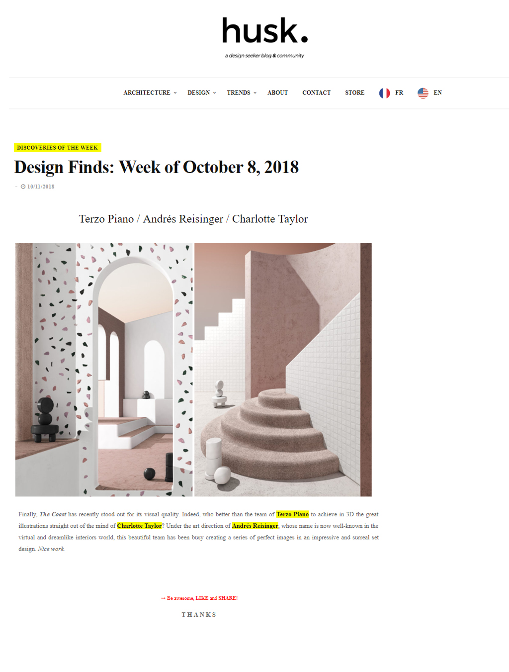 """Husk Design Blog - """"The Coast""""