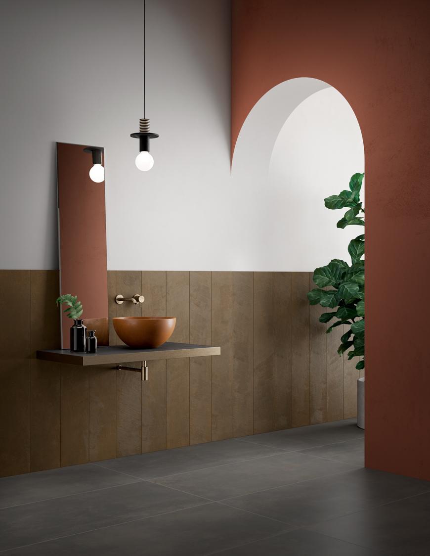 Terzo Piano x Ceramiche Candia | Metal Art | #bathroom