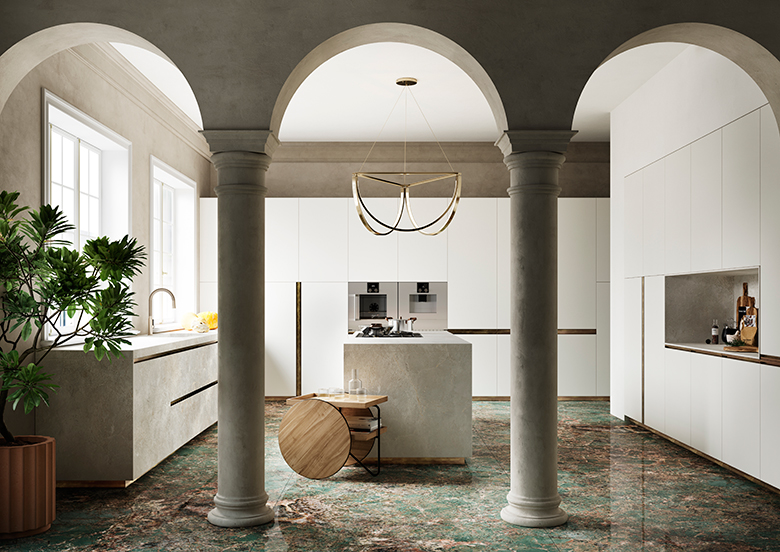Sapienstone - kitchen design - Terzo Piano