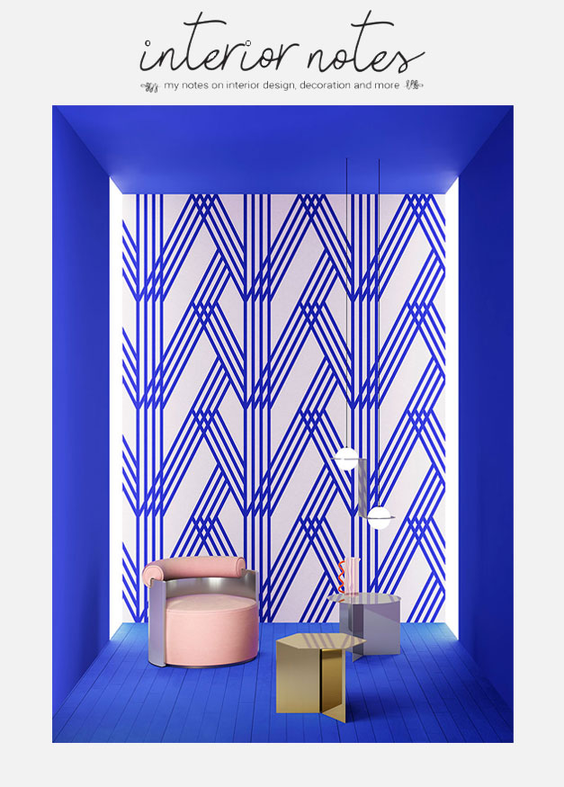 Graphic-Manifesto featured on Interior Notes // #kleinBlue