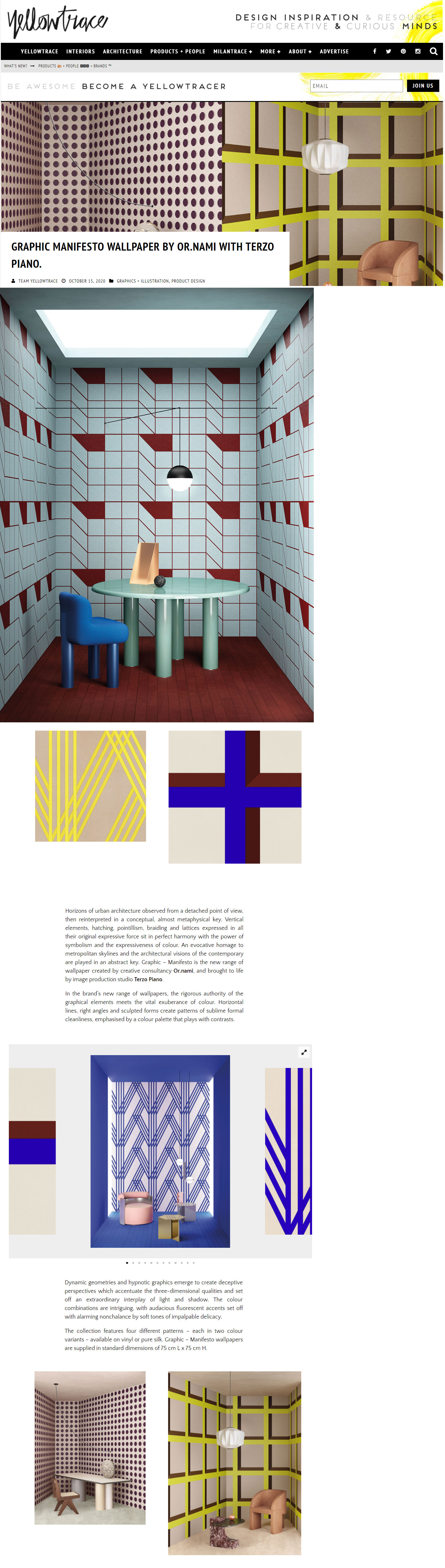 GRAPHIC MANIFESTO FEATURED ON YELLOWTRACE