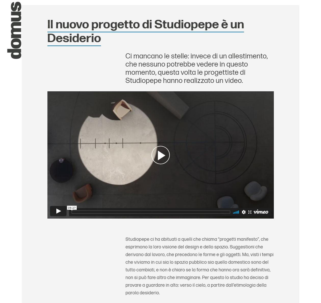 De-siderio Studiopepe project/ TerzoPiano 3dArt