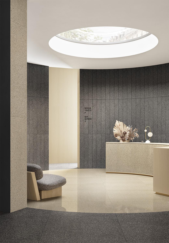 Terzo Piano art direction for Graniti Fiandre / architectural hotel