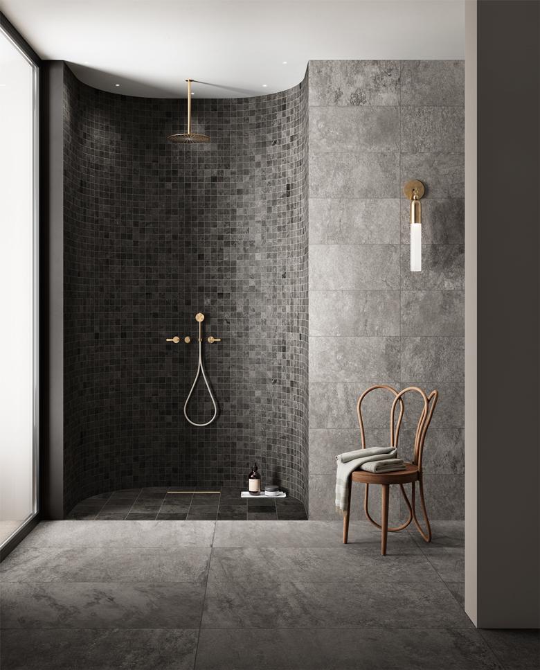 TERZO PIANO ART DIRECTION X DEL CONCA - LAVAREDO COLLECTION - dark bathroom
