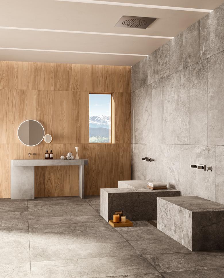 TERZO PIANO ART DIRECTION X DEL CONCA - LAVAREDO COLLECTION- mountain spa design